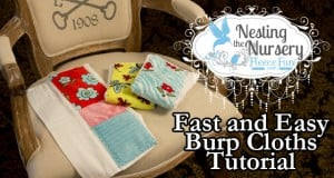 fast and easy burp cloths feature