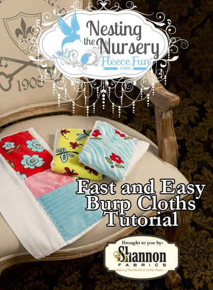 I love these fast and easy burp cloths you can make for baby.  Great easy sew tutorial.  Wonderful DIY idea for the nursery!
