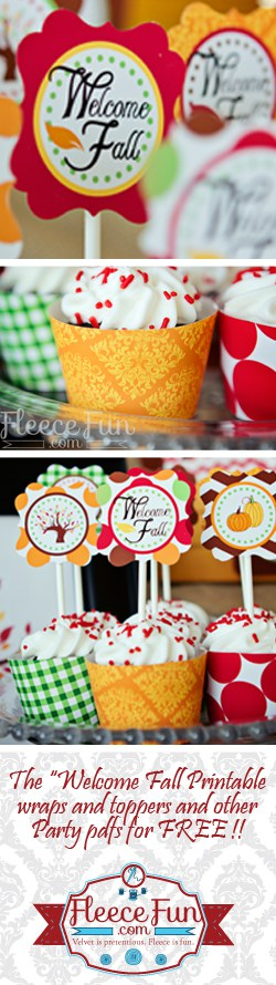 Welcome fall wraps and toppers