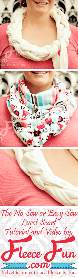 Lucet scarf tutorial.  Love how this can be a no sew project!  Such a clever DIY idea.