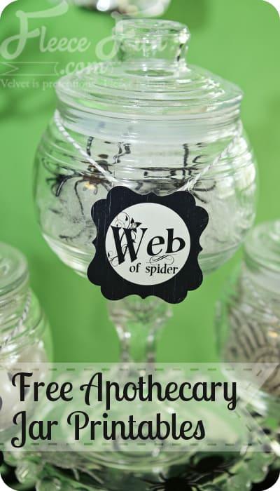 Free apothecary jar printables