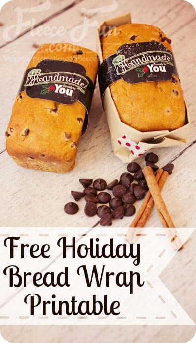 free christmas bread wrap printable