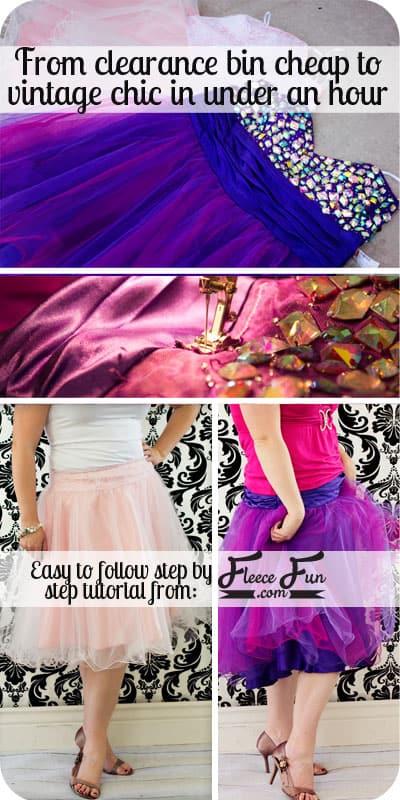 prom dress to skirt tutoiral