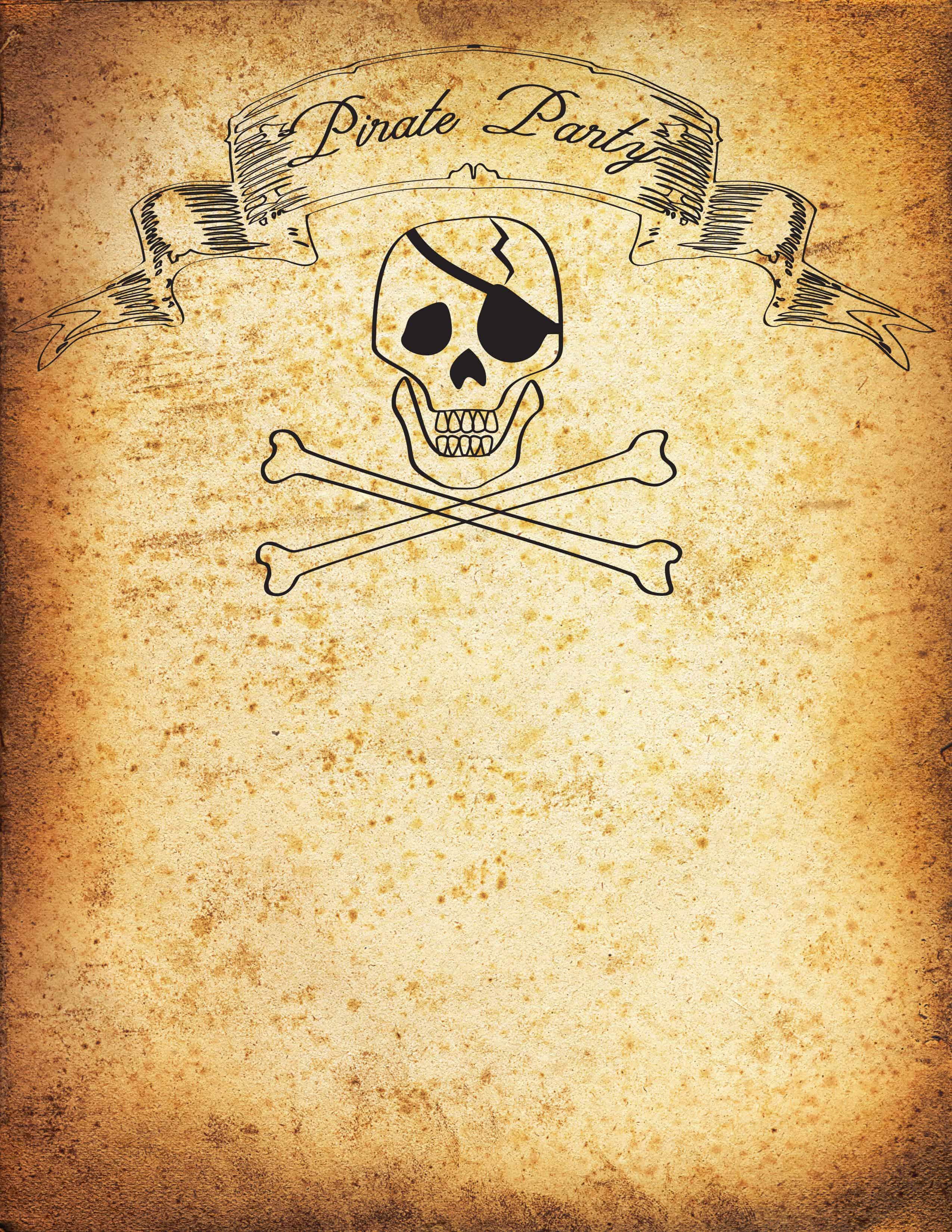 Free Pirate Party Invitation Printable Tutorial Fleece Fun