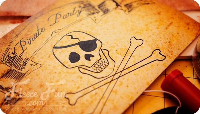 pirate party free printable invitation