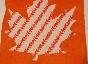 Maple leaf coaster Step3
