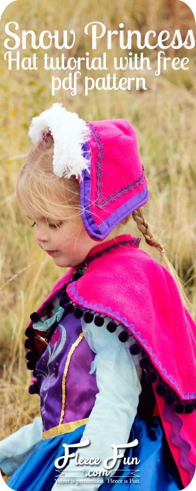 I love this cute Princess Anna Hat tutorial inspired by Disney's Frozen!