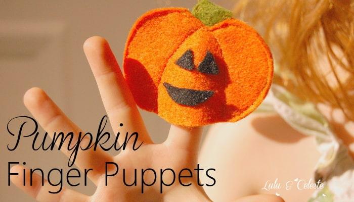 Pumpkin finger puppet
