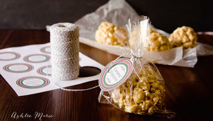 caramel popcorn balls make great neighbor gifts during the holidays