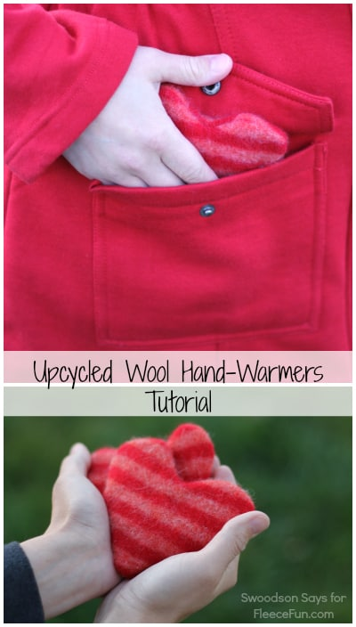 I love this diy idea for upcycling a sweater into hand warmers. What a great gift idea!