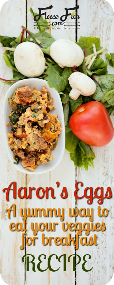 Fabulous recipe that incorporated veggies into  a common breakfast food.