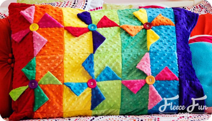 pinwheel pillowcase turorial