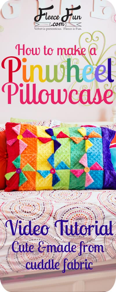 This cute pillow case is based on an easy to make quilt block! I love that there is a video tutorial for it!