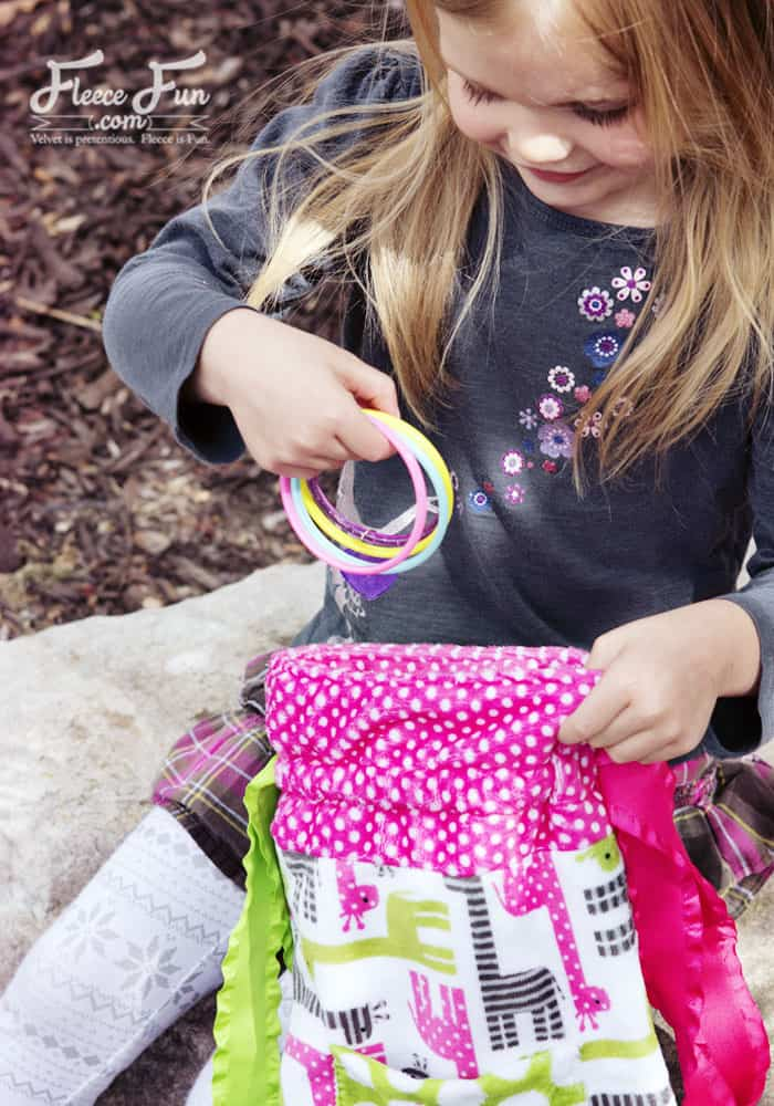This drawstring backpack tutorial has an easy to follow sew along video series to make is perfect for beginners.