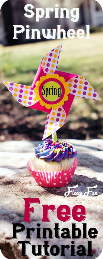 I love these spring pinwheels.  They're perfect for a gift or fun decor around the house.  Great DIY idea.