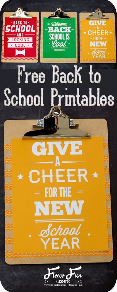 I love these free back to school printables.  They are so bright and cheerful.  Easy DIY decor.