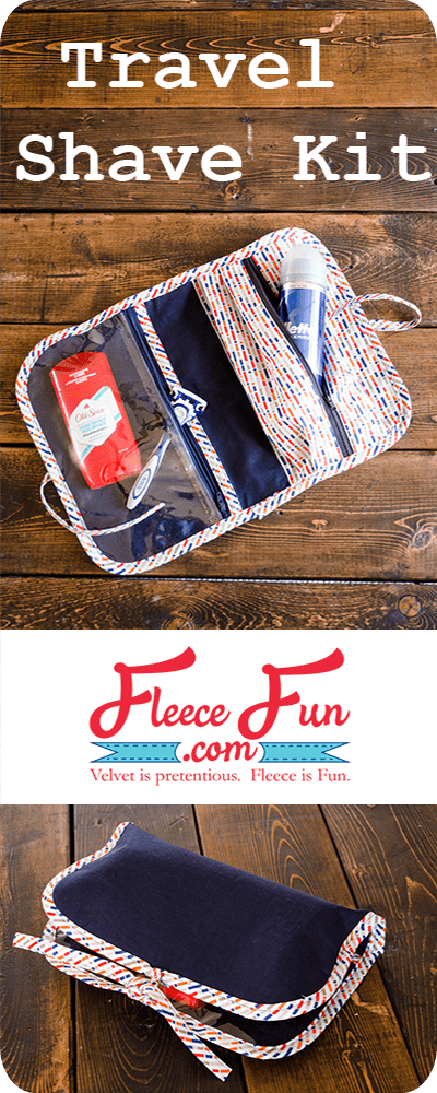 I love this great handmade gift idea for a guy!  This free sewing tutorial is a perfect DUy idea for travel.