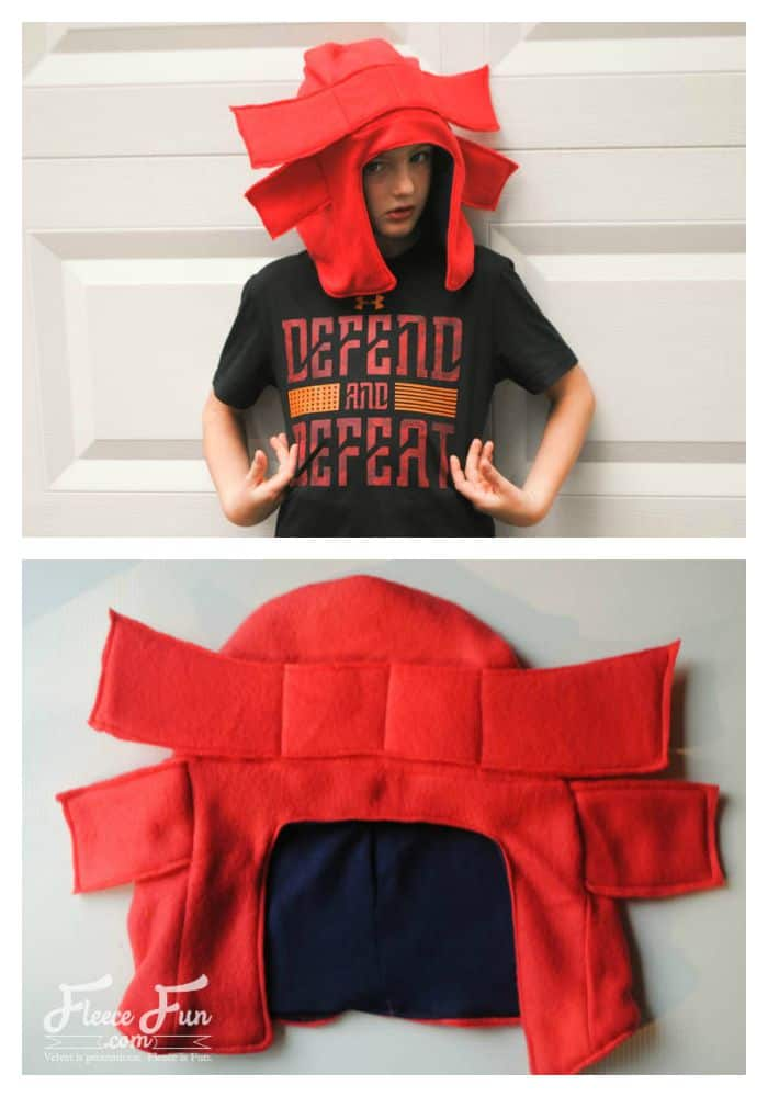 I know a little boy that would LOVE this. It would be great for a costume or for keeping his head warm in the winter!