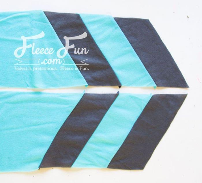 Colourblocked Cowl Tutorial - Pienkel for Fleece Fun 10wm