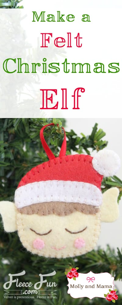 Make a Christmas Elf with this Molly and Mama tutorial for Fleece Fun