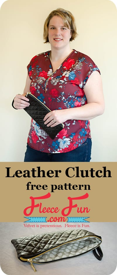 Love this Quilt Leather Clutch Tutorial! it looks simple to make and so chic! I want to sew this.