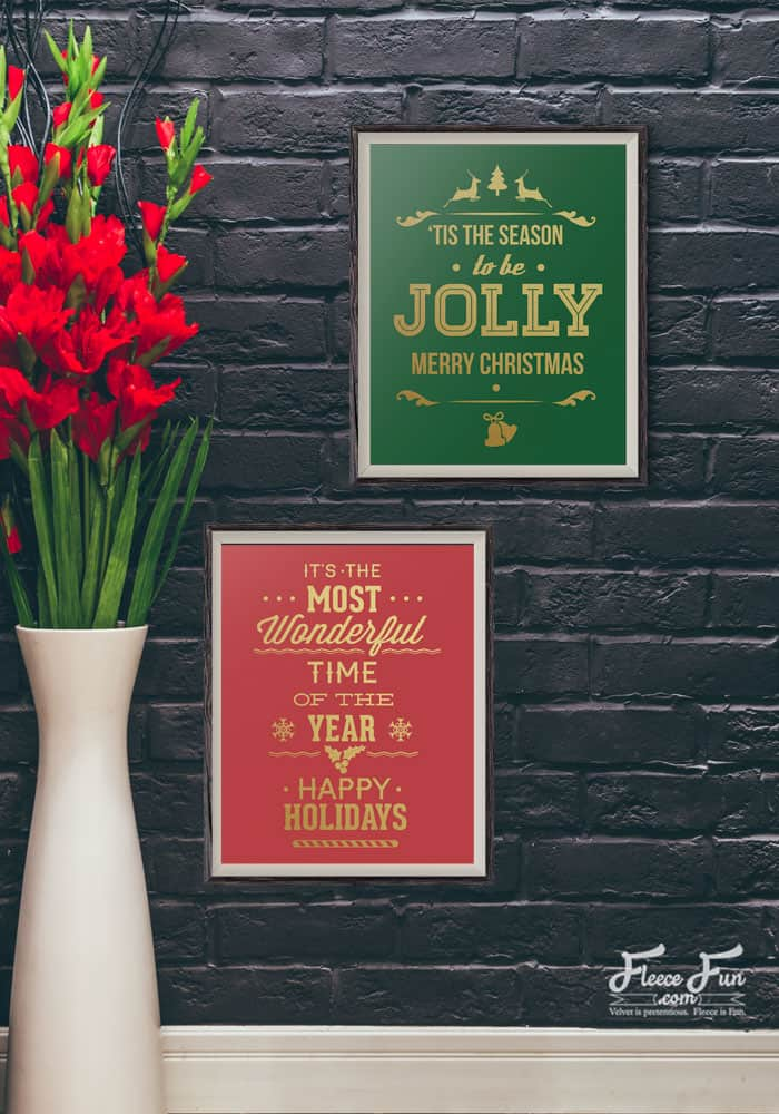 Love these cute free Christmas Printables! Easy decor or a fast hostess gift. Perfect!