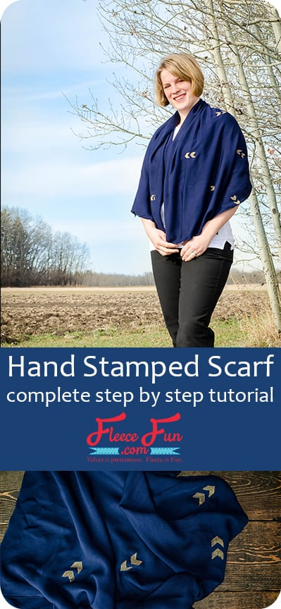 I love this simple and sweet scarf DIY.  This will be the perfect addition to my fall wardrobe.  It's really easy to sew project too.  This would make a great handmade gift idea.