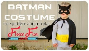 Batman Cape Costume Tutorial DIY on Fleece Fun