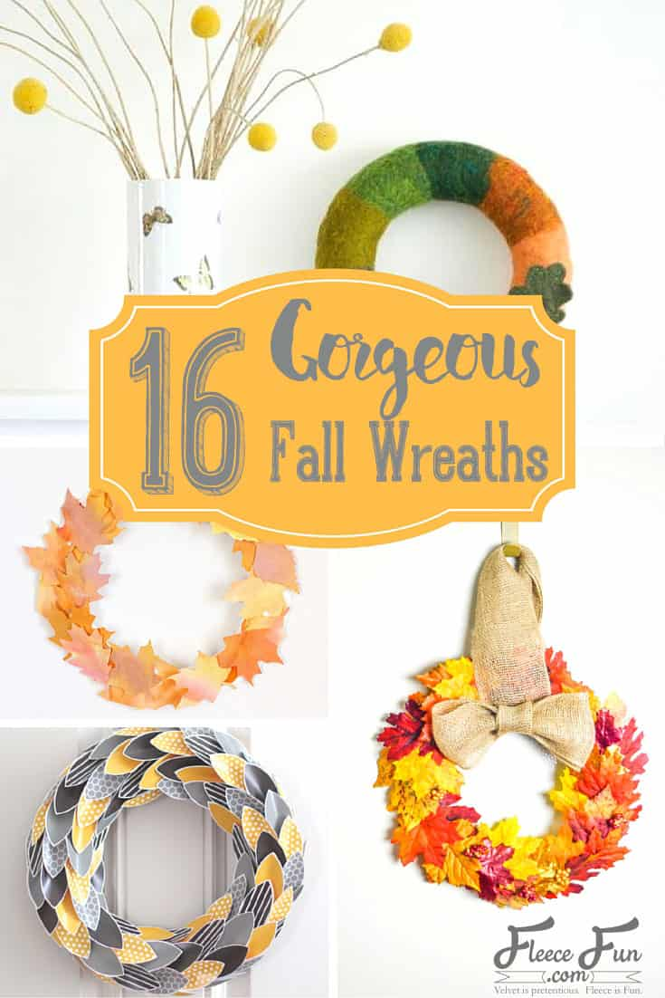 I love this collection of DIY fall wreath ideas.  These autumn decor pieces are the perfect way of bring the fall color into your home.