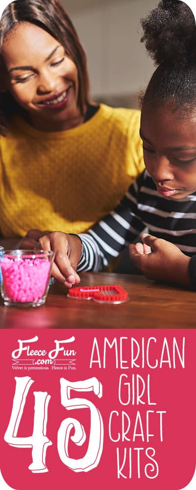 I love this list of American Girl Craft Kits.  They have so many creative things for girls to make and do.