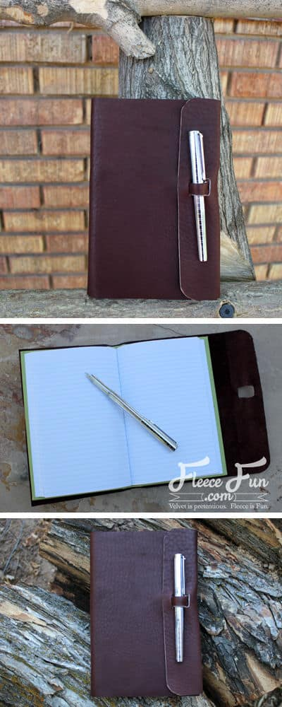 I love this handmade gift idea. A leather journal - so perfect and I love how clear the instructions are!