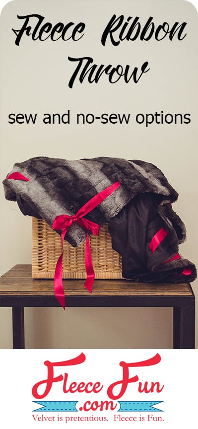 I love this easy to make fleece throw.  It looks so cozy.  There are sew and no sew options.  Great DIY idea.