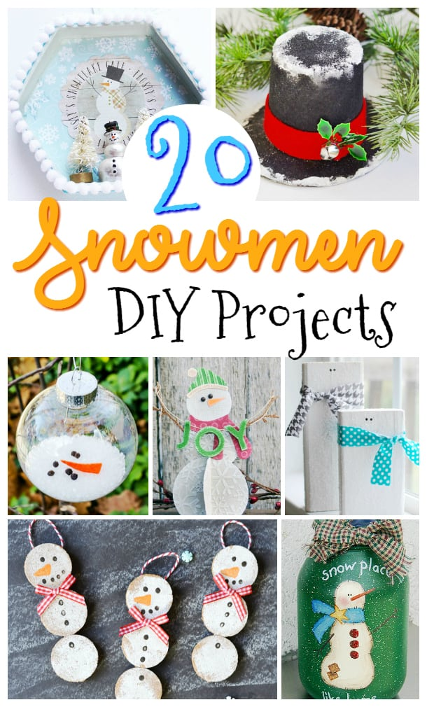 I love this collection of snowman crafts and DIYs!