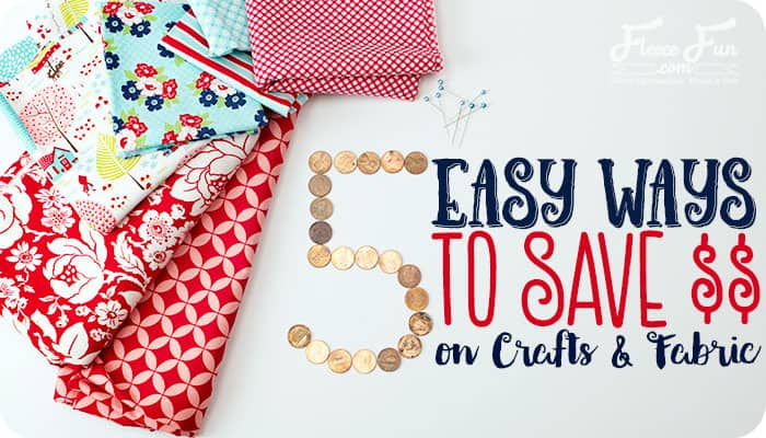 I love this collection of tips to save money on my sewing projects. Number 4 is especially helpful!