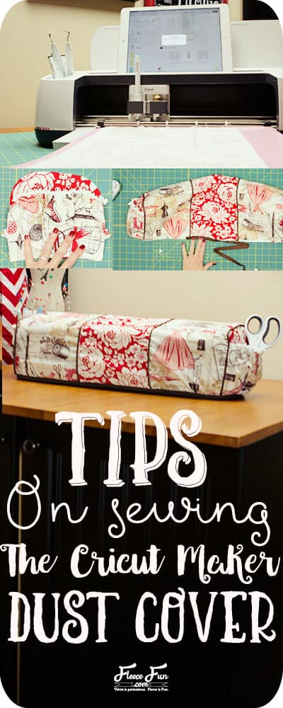 I love this handy tips guide for the Cricut Maker Dust Cover! So many handy tips and tricks for this sewing project. Love this Cricut Maker Cover.