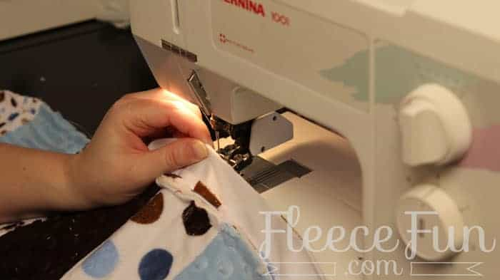You can learn how to sew a cozy blanket with this Quilt As You Go Stitch n Flip Strip Quilt Tutorial that walks you through step by step. Lots of Pictures and a video tutorial make this easy quilting method perfect for a novice quilter. Great sewing project.