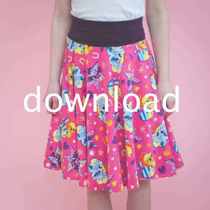 Step 3- Be sure to download the free sewing pattern so your circle skirt tutorial will turn out perfect!