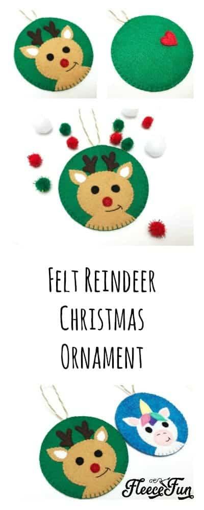 Reindeer Felt Handmade Ornament DIY