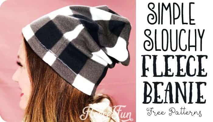 Easy Fleece Hat Free Pattern with Video Tutorial