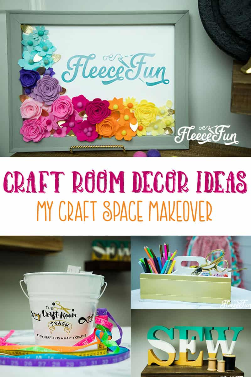 I love all of these craft room decor ideas.  They look likes easy diys to try.  Her craft room makeover is amazing.