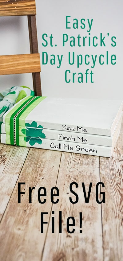 I love this St. Patrick's Day Decor - Easy Upcycle Book Craft. It comes with a free SVG and would so cute on my mantle! Love that you can upcycle books too! #cricutmade #cricut #cricutmaker #cricutcreated #cricut #cricutmade #cricutexploreair #diy #silhouettecameo #vinyl #cricutcrafts #svg #htv #svgfiles #custom #cricutcreations #silhouette #craft #htvvinyl #crafts #cricutexplore #crafty #svgfile