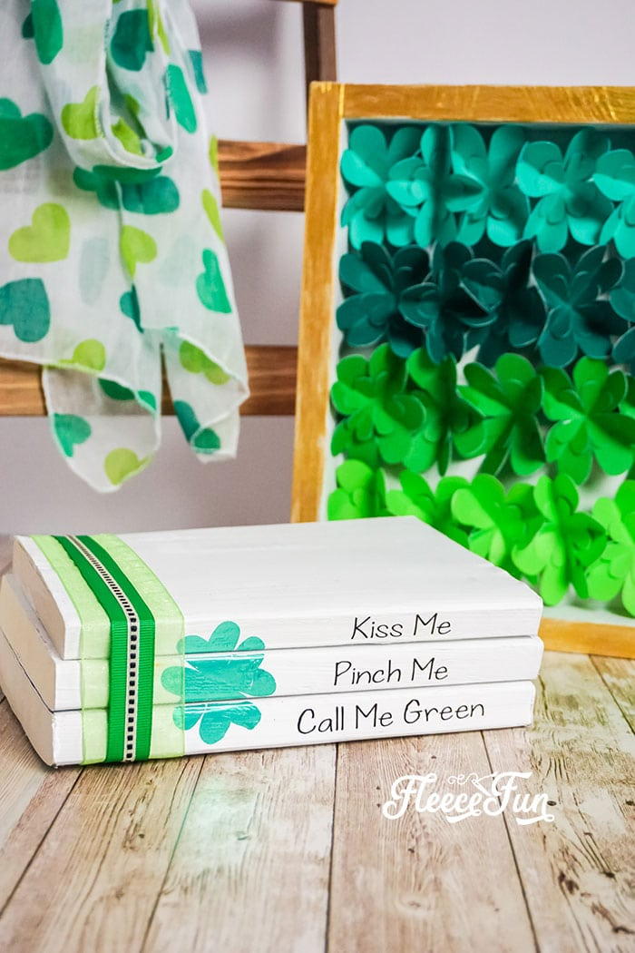 I love this St. Patrick's Day Decor - Easy Upcycle Book Craft.  It comes with a free SVG and would so cute on my mantle!  Love that you can upcycle books too!