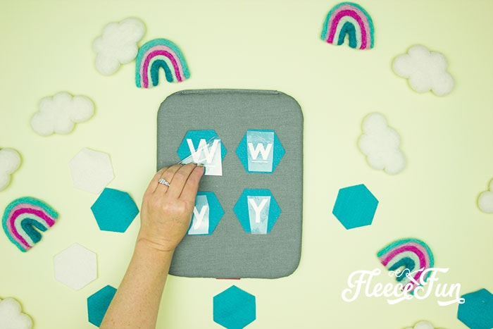 peeling the vinyl transfer. This Matching Game DIY is perfect for learning and made to be durable to last for several years of abuse from kids!