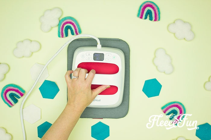 EasyPress adhering the vinyl. This Matching Game DIY is perfect for learning and made to be durable to last for several years of abuse from kids!