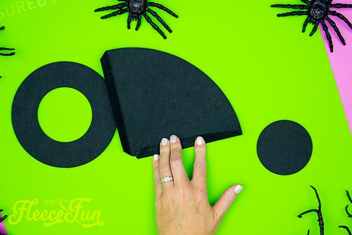 folding over the dge. This DIY Mini Witch Hat is no sew and comes with a free PDF pattern and SVG template to make it a breeze! 3 mini sizes so you can make the perfect hat!