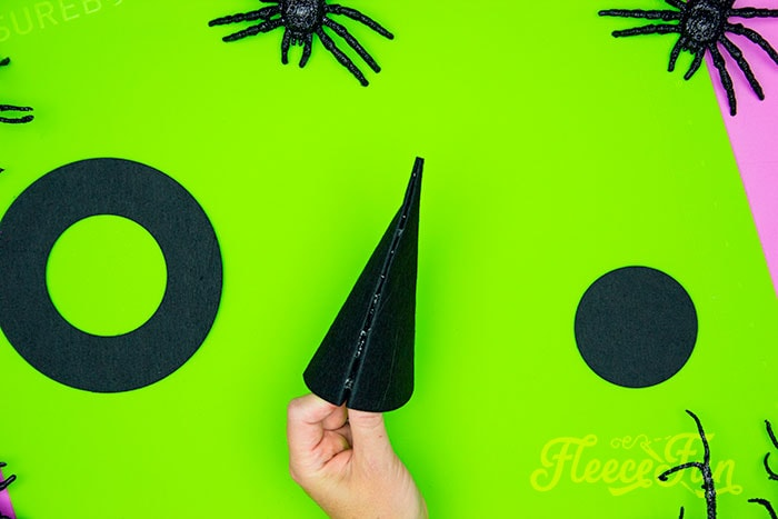the cone glued together. This DIY Mini Witch Hat is no sew and comes with a free PDF pattern and SVG template to make it a breeze! 3 mini sizes so you can make the perfect hat!