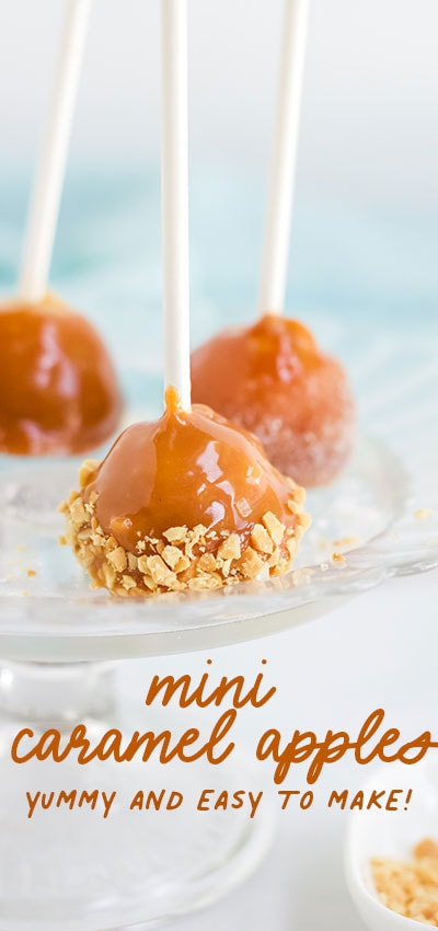 How to Make Mini Caramel Apples (Easy and Less Messy!)