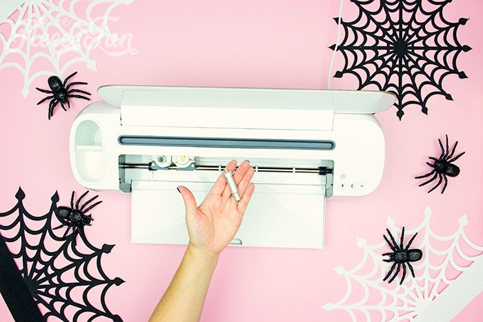 Fine point blade for Cricut Machine. These Spider Web doilies Free SVG files are the perfect finishing touch to you Halloween decor!  The free SVG includes 3 designs for decorating spookiness!