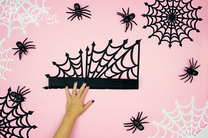 folding down top. These Spider Web doilies Free SVG files are the perfect finishing touch to you Halloween decor!  The free SVG includes 3 designs for decorating spookiness!