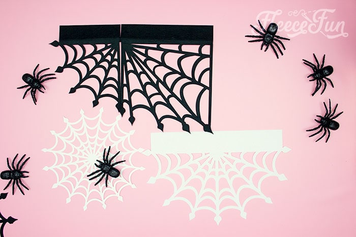 all the peices cut out. These Spider Web doilies Free SVG files are the perfect finishing touch to you Halloween decor!  The free SVG includes 3 designs for decorating spookiness!